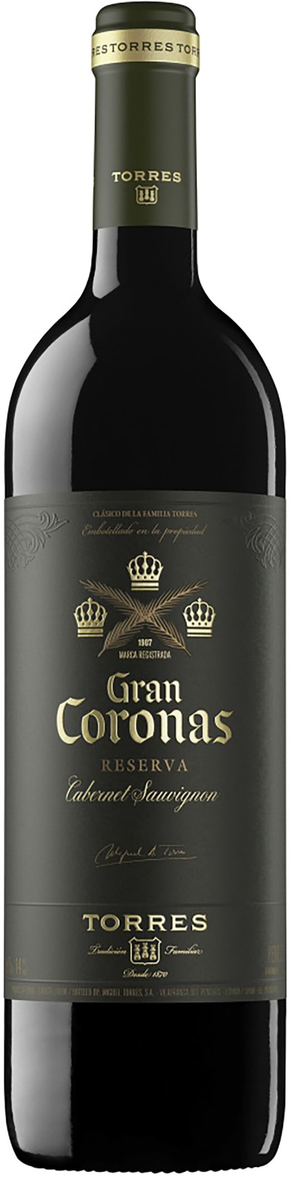 Torres Gran Coronas Cabernet Sauvignon Reserva 2016 gift packaging