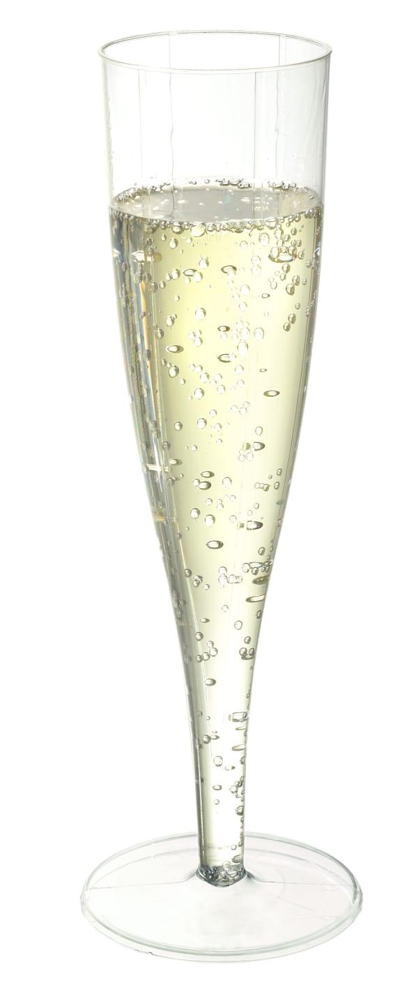 Sparkling wine glass (1 pc), plastic