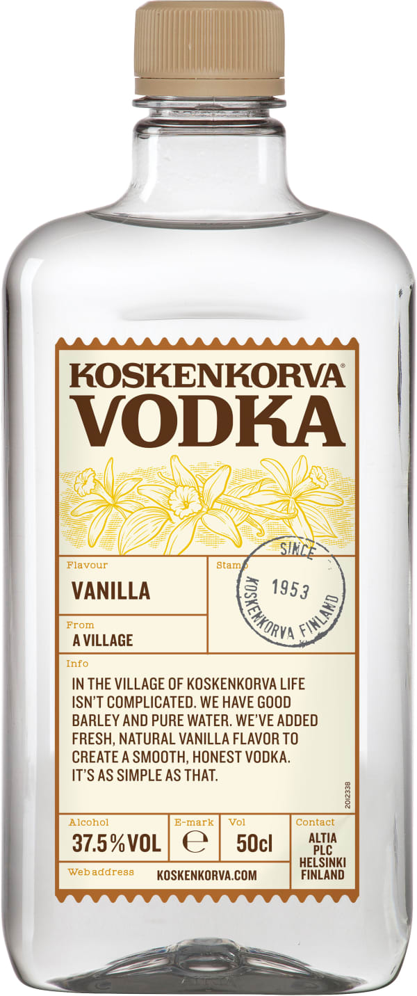 Koskenkorva Vodka Vanilla muovipullo