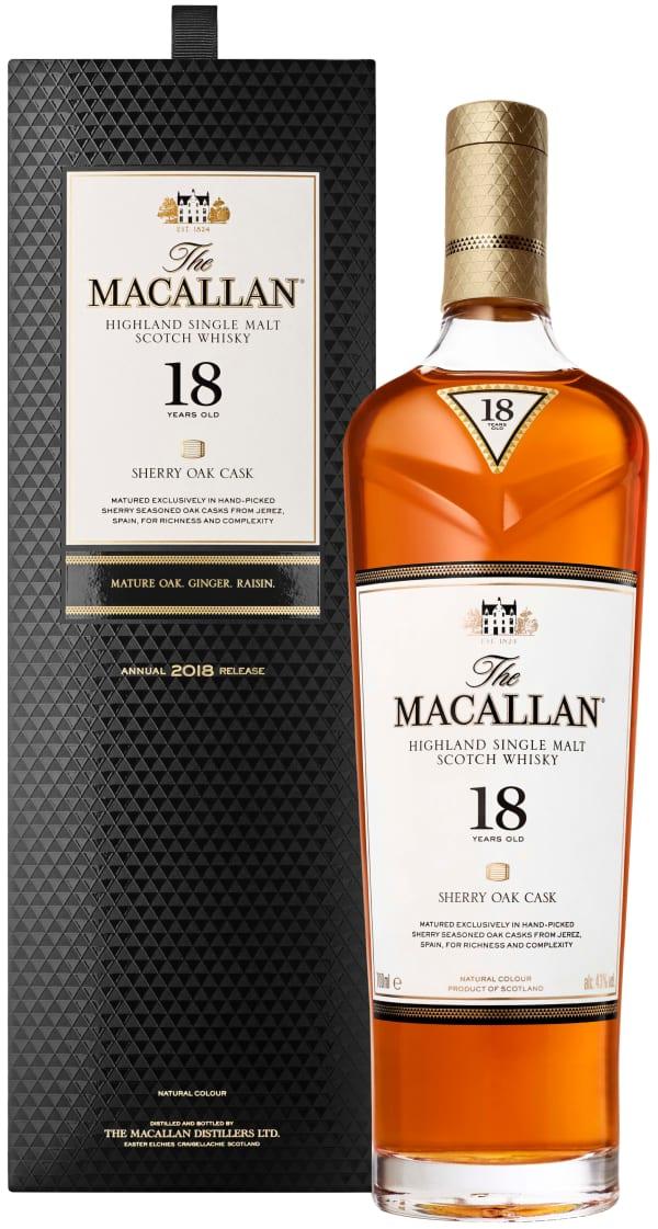 The Macallan Sherry Oak 18 Year Old Single Malt