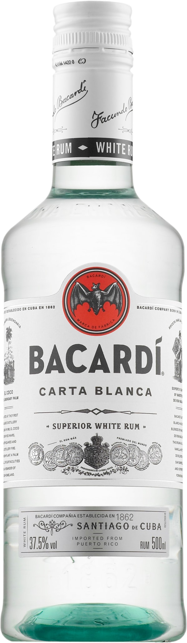 Bacardi Carta Blanca plastic bottle