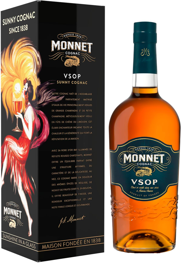 Monnet VSOP gift packaging