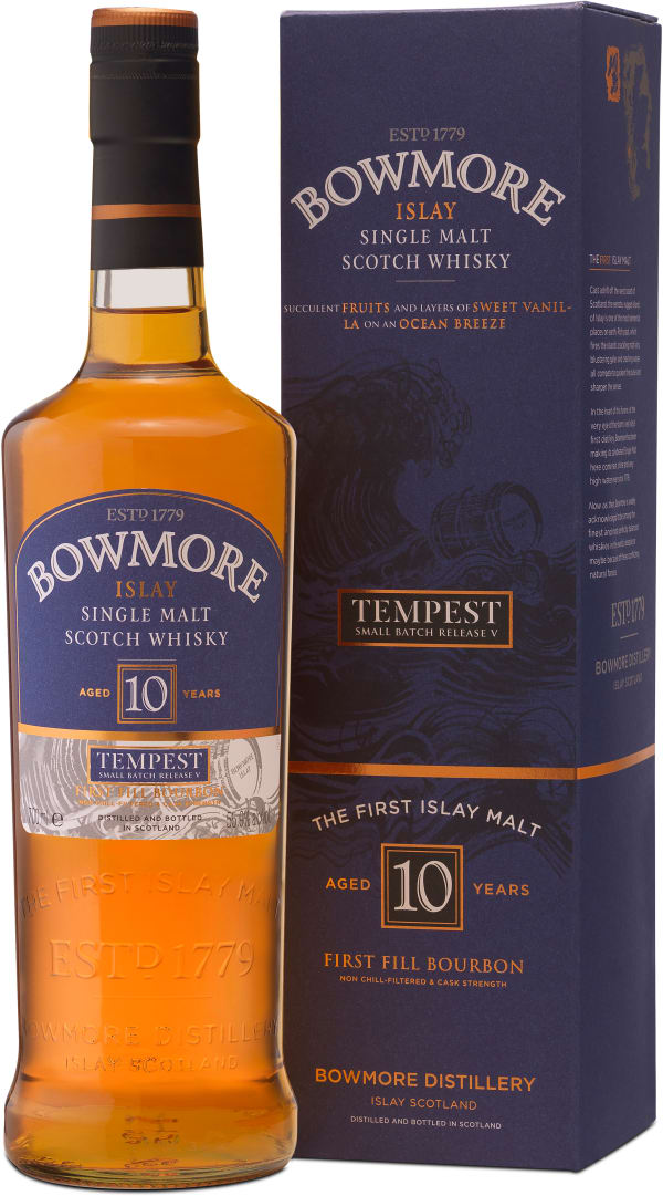 Bowmore Tempest Small Batch Release V 10 Year Old Singe Malt