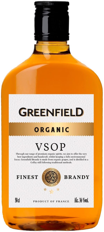 Greenfield Organic Brandy plastic bottle