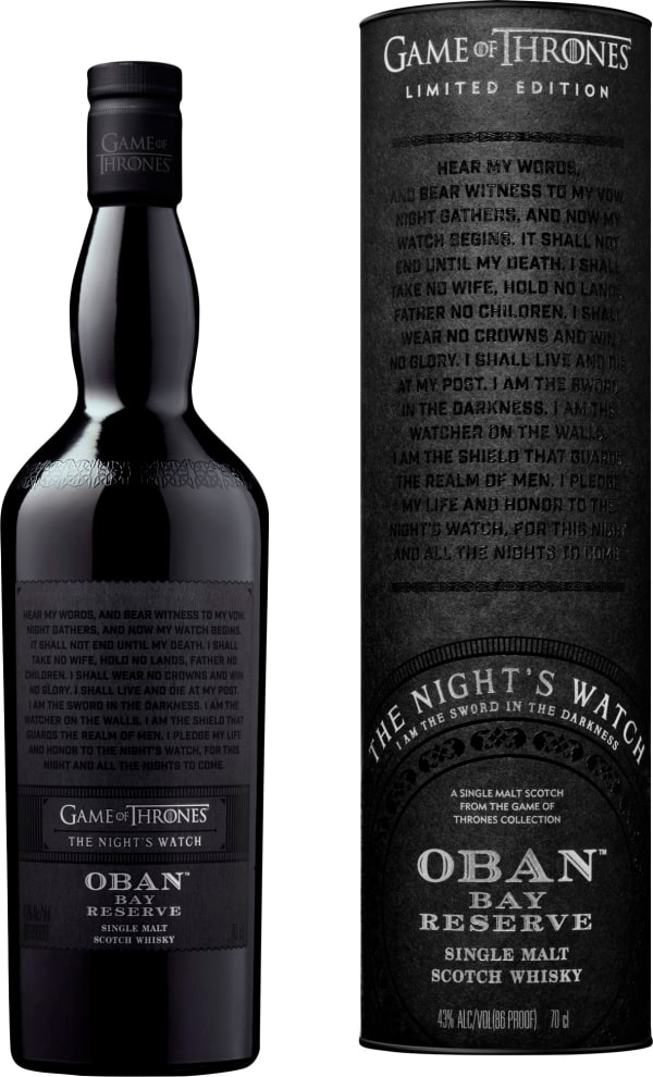 Oban Bay Reserve Game of Thrones The Night's Watch Single Malt