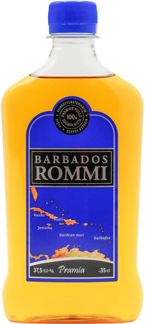 Barbados Rommi plastic bottle