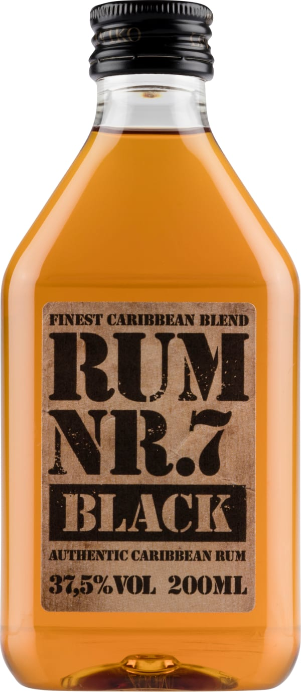 Rum Nr. 7 Black plastic bottle