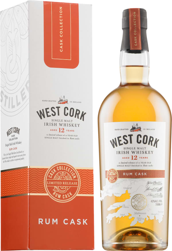 West Cork Rum Cask Finish 12 Year Old Single Malt