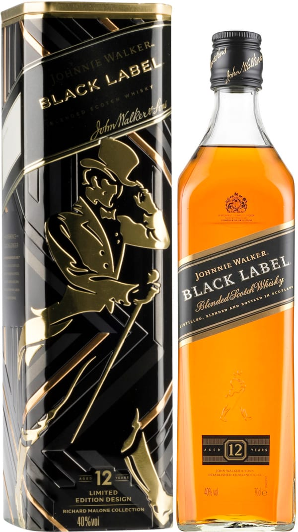 Johnnie Walker Black Label 12 Year Old presentförpackning