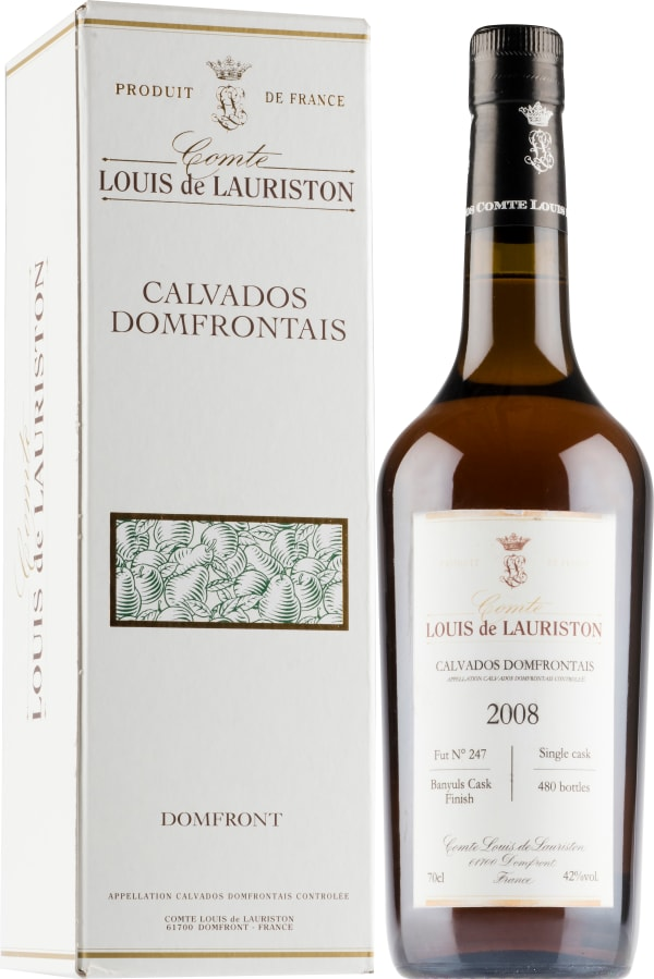 Comte Louis de Lauriston Banyuls Cask Finish Calvados 2008