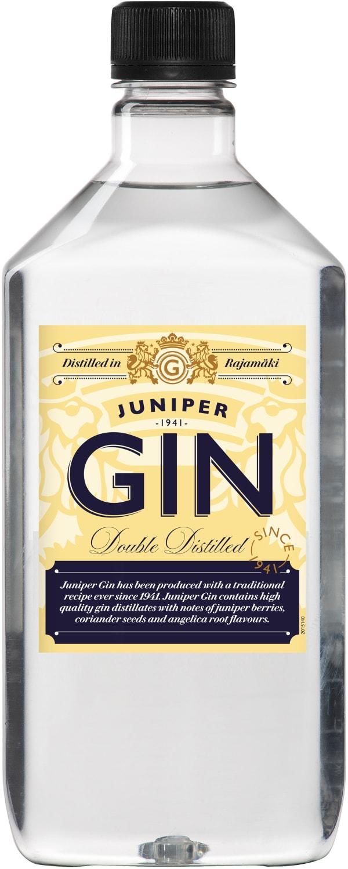 Juniper Gin plastic bottle