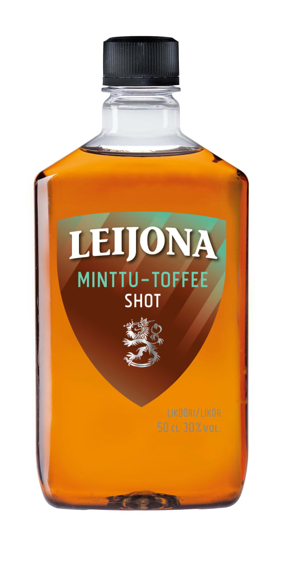 Leijona Minttu-Toffee Shot muovipullo
