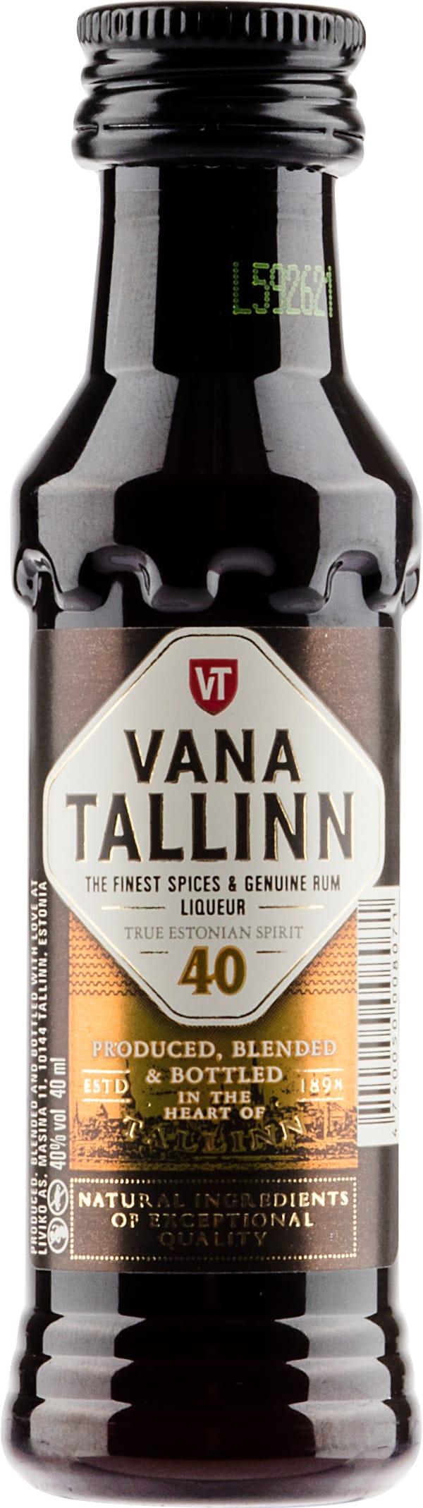 Vana Tallinn plastic bottle