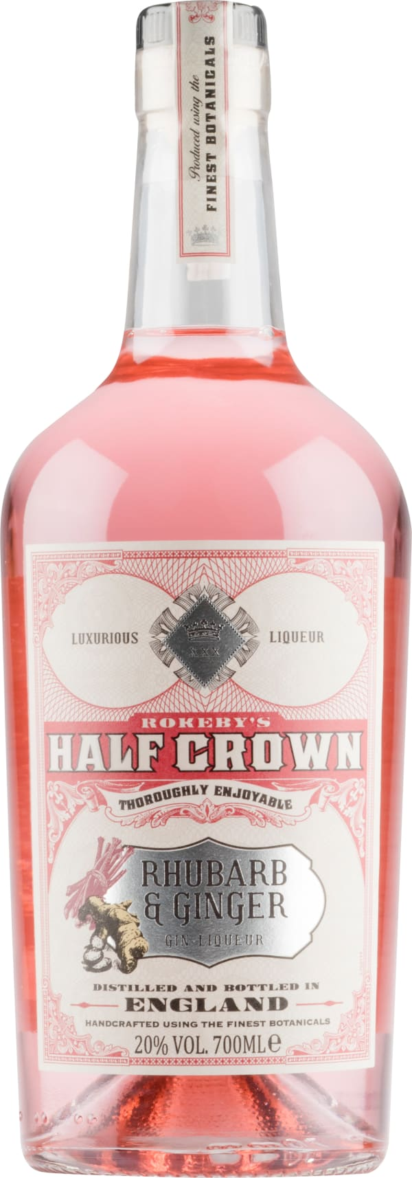 Rokeby's Half Crown Rhubarb and Ginger Gin Liqueur
