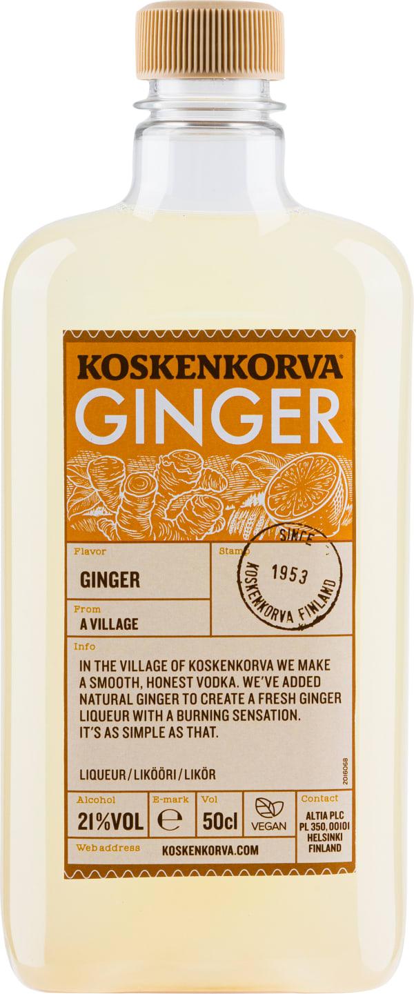 Koskenkorva Ginger plastic bottle