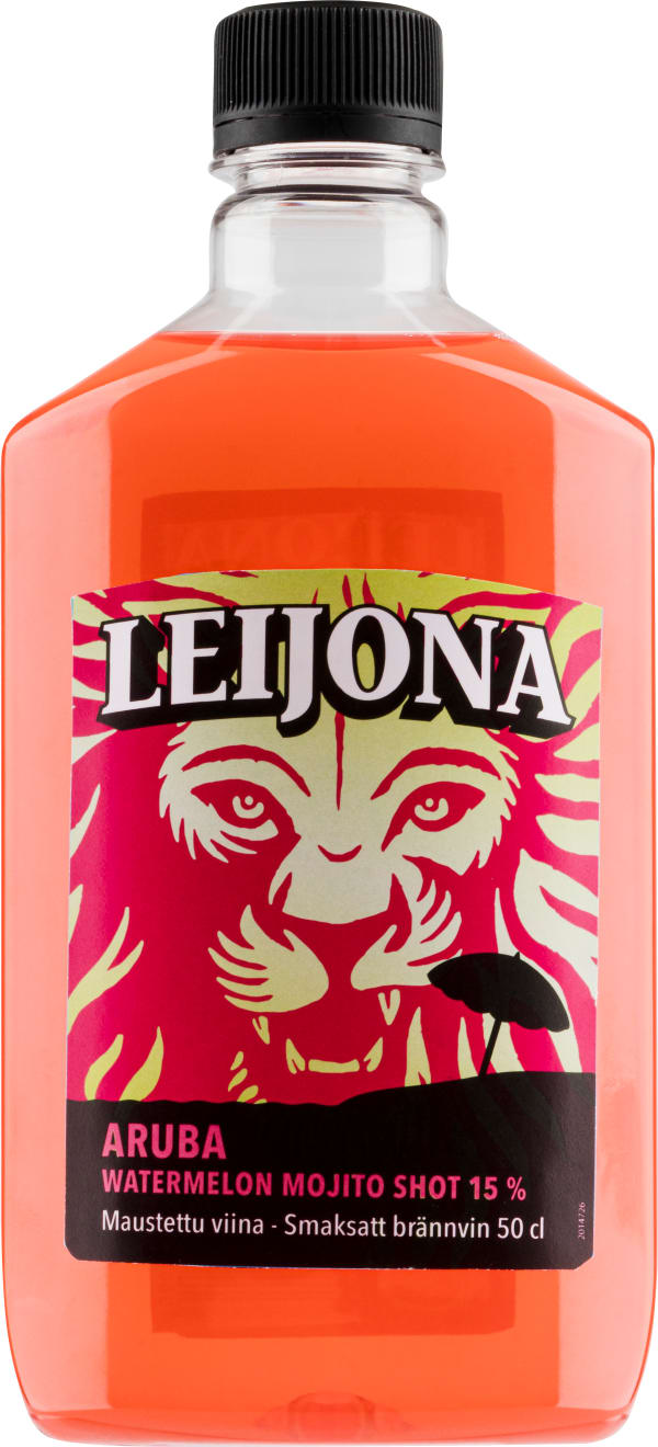 Leijona Aruba Watermelon Mojito Shot plastic bottle