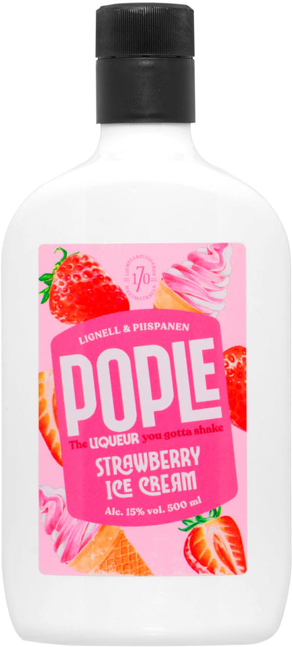 Pople Strawberry Ice Cream muovipullo