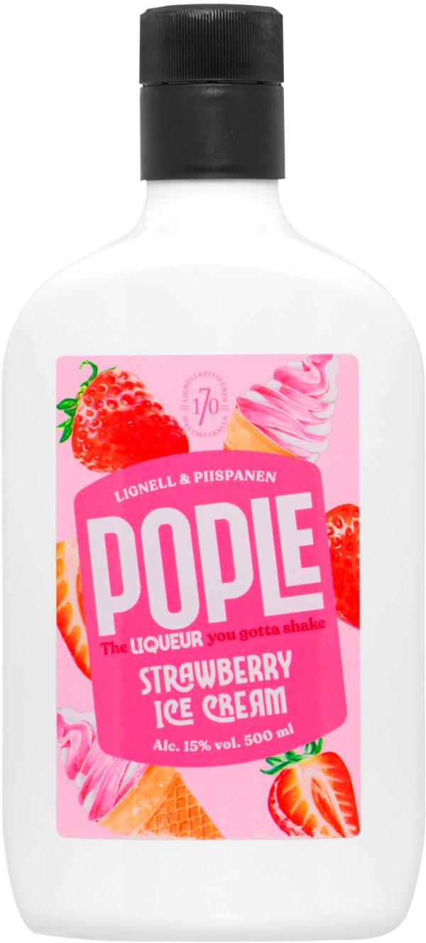 Pople Strawberry Ice Cream plastflaska