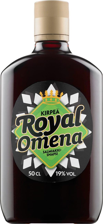Royal Kirpeä Omena Salmiakkisnapsi muovipullo