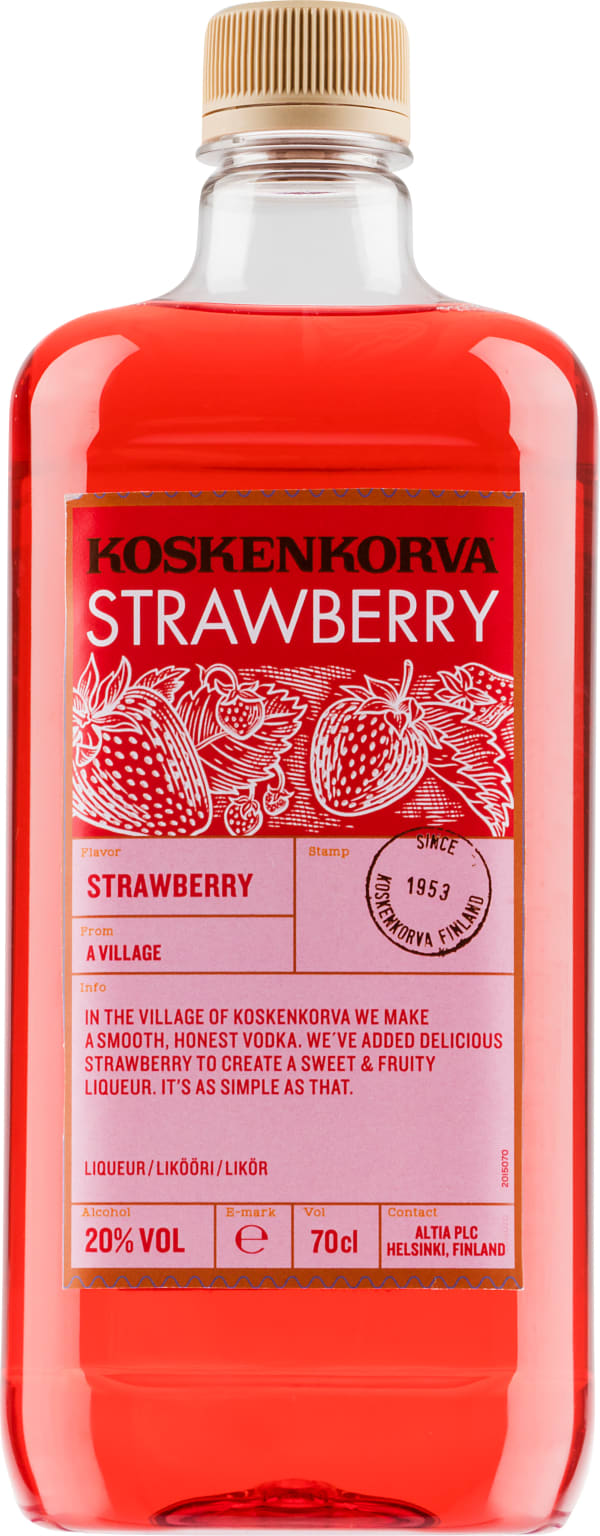 Koskenkorva The Original Strawberry plastic bottle