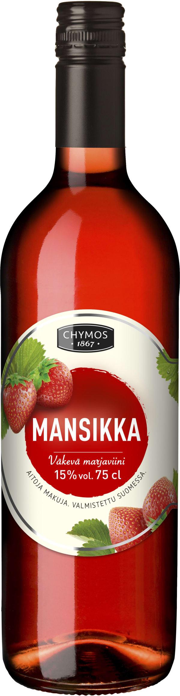 Chymos Mansikka Väkevä Marjaviini
