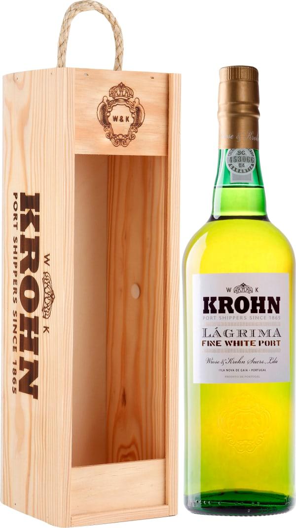 Krohn Lágrima Fine White Port gift packaging