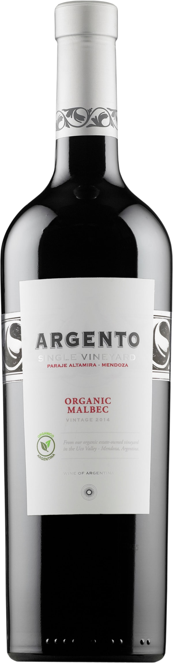 Argento Paraje Altamira Organic Malbec 2014