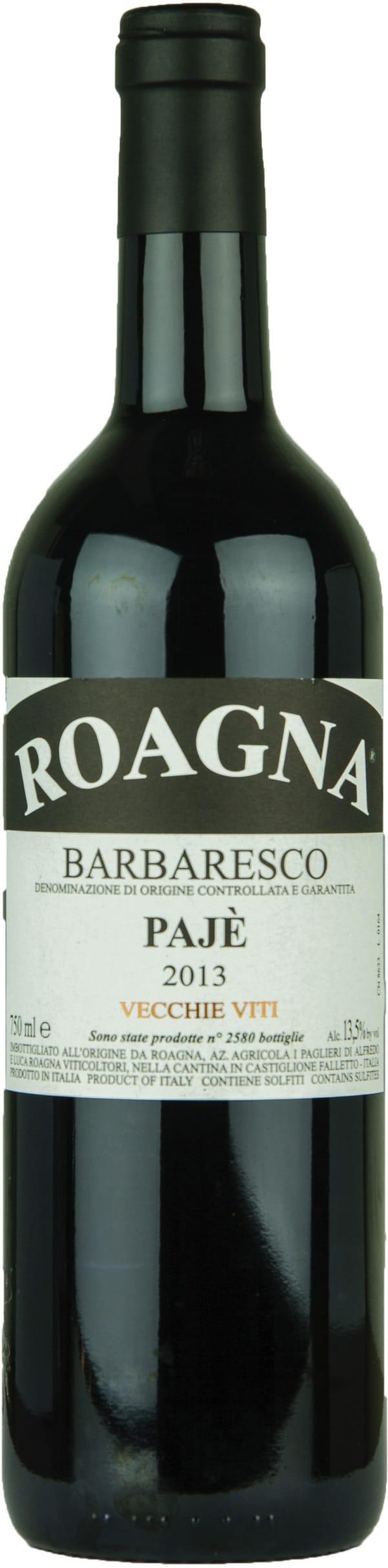 Roagna Barbaresco Pajè Vecchie Viti 2013