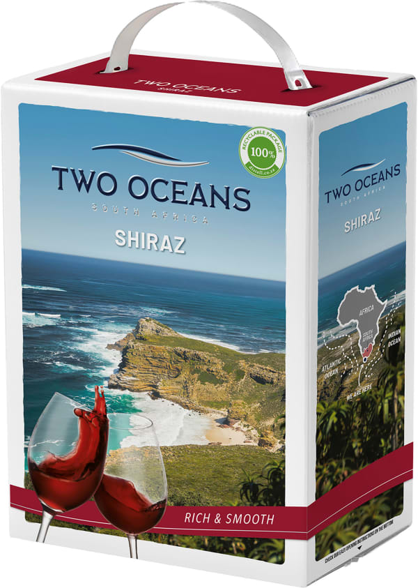Two Oceans Shiraz 2019 bag-in-box