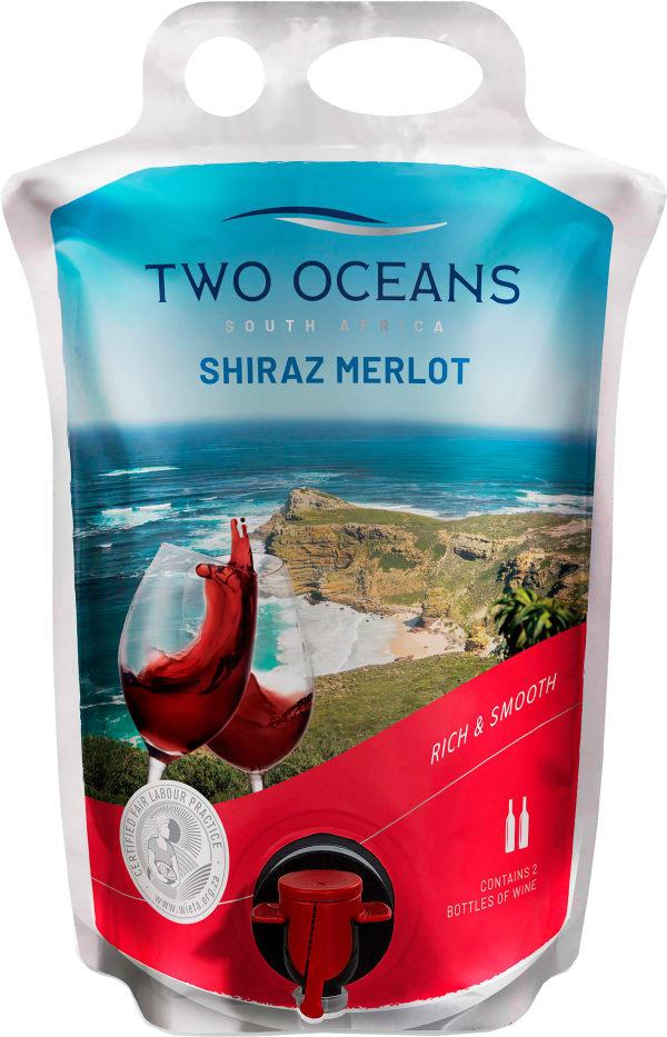 Two Oceans Merlot Shiraz 2018 wine pouch
