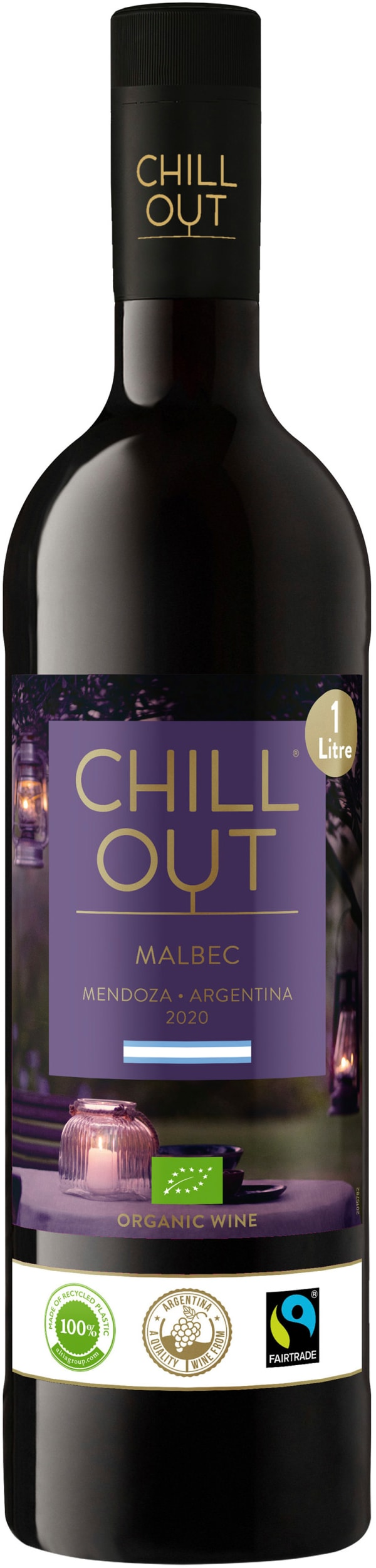 Chill Out Malbec Organic Argentina 2020 plastic bottle