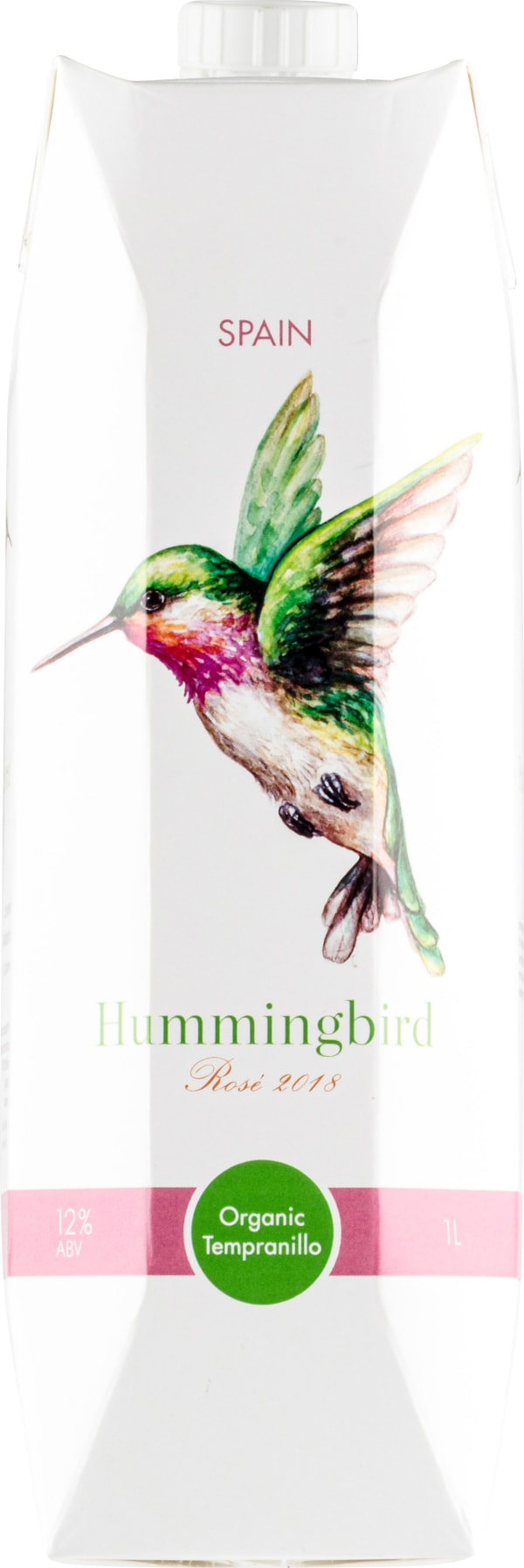 Hummingbird Organic Tempranillo Rosé 2018 carton package