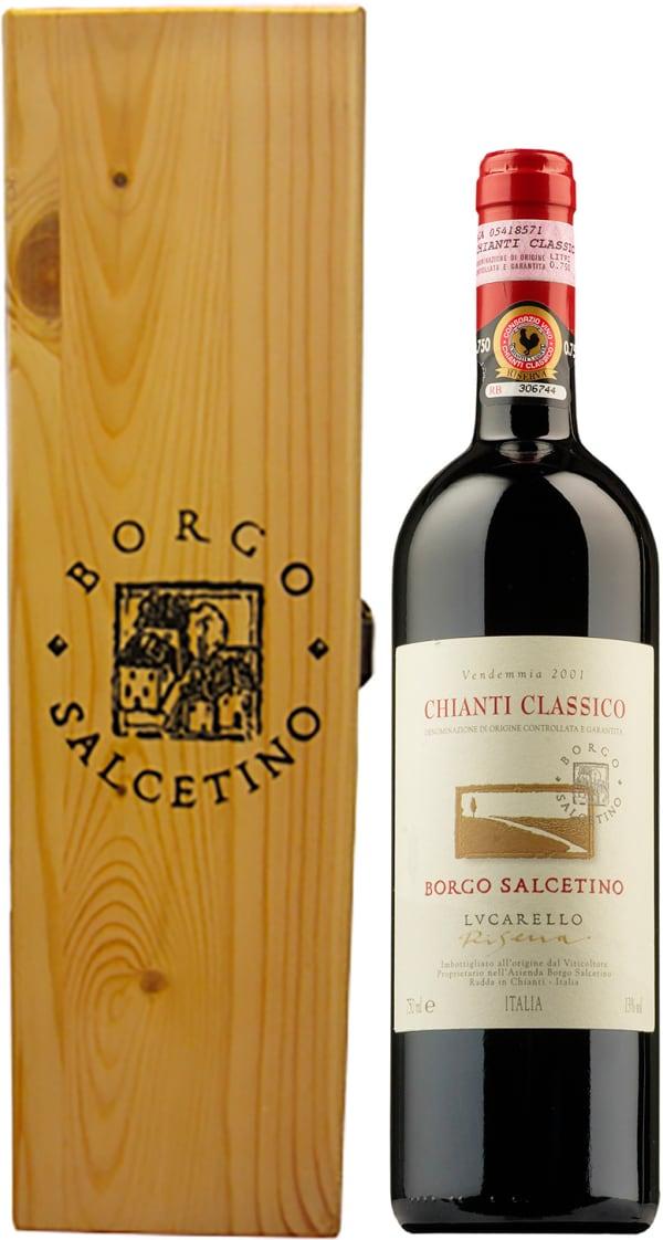 Borgo Salcetino Lucarello Riserva 2015 gift packaging