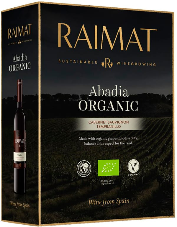 Raimat Abadía Cabernet Sauvignon Tempranillo Organic 2018 bag-in-box
