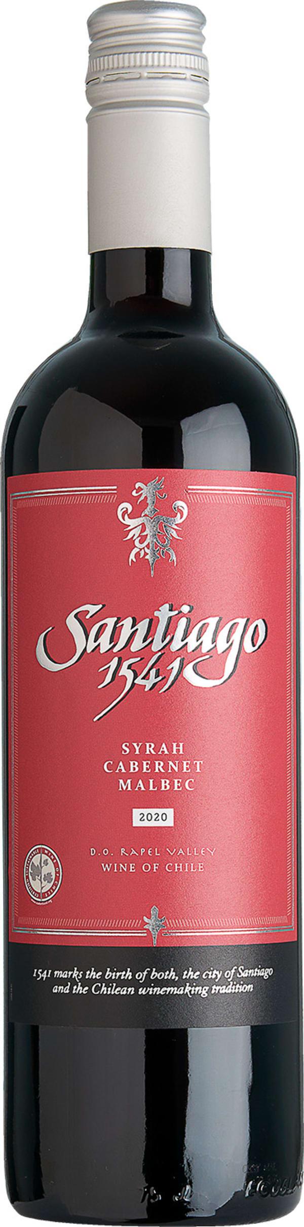 Santiago 1541 Syrah Cabernet Malbec 2016