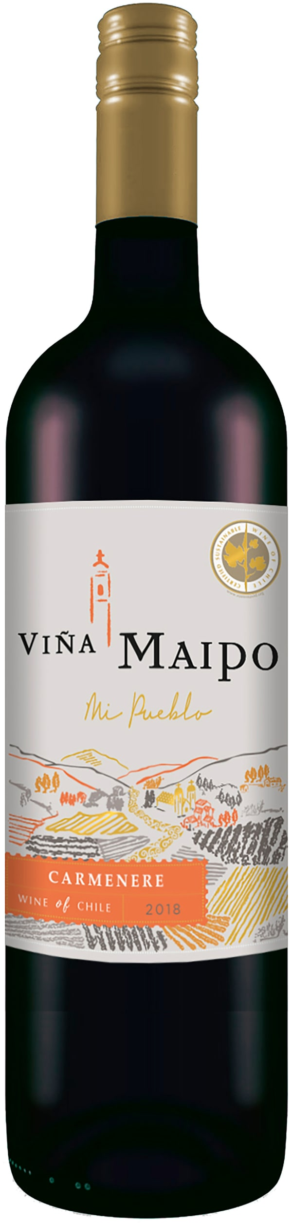 Viña Maipo Mi Pueblo Carmenere 2018 plastflaska
