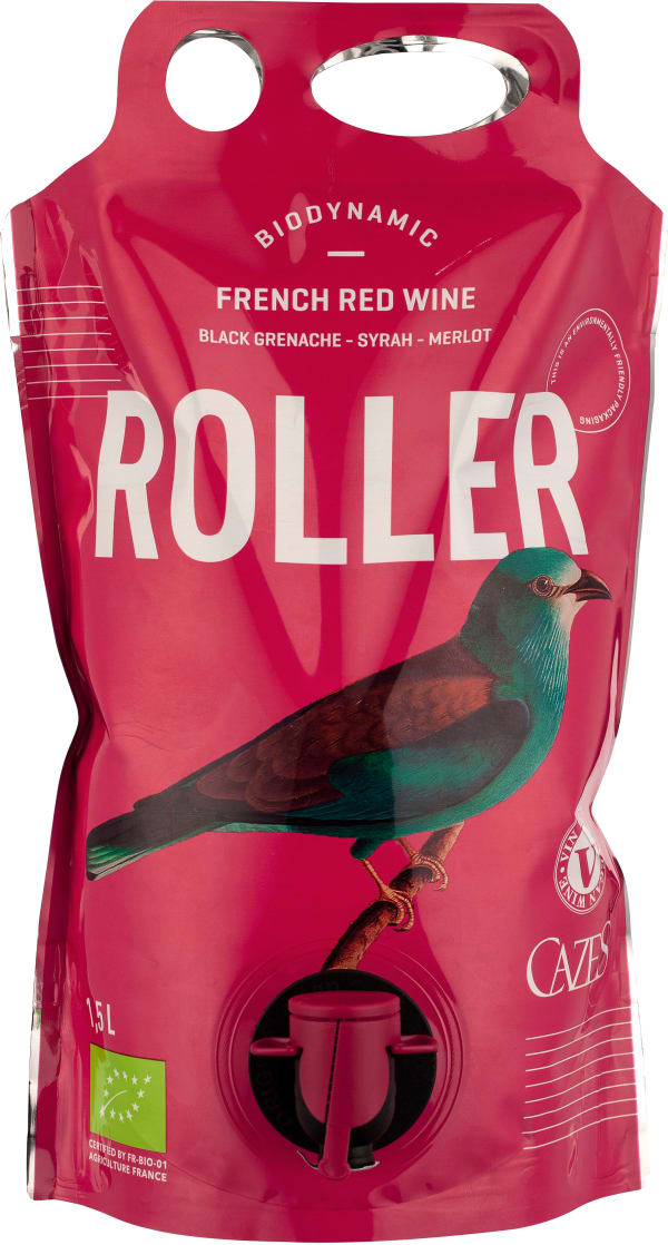 Cazes Roller Grenache Syrah Merlot Organic 2018 wine pouch