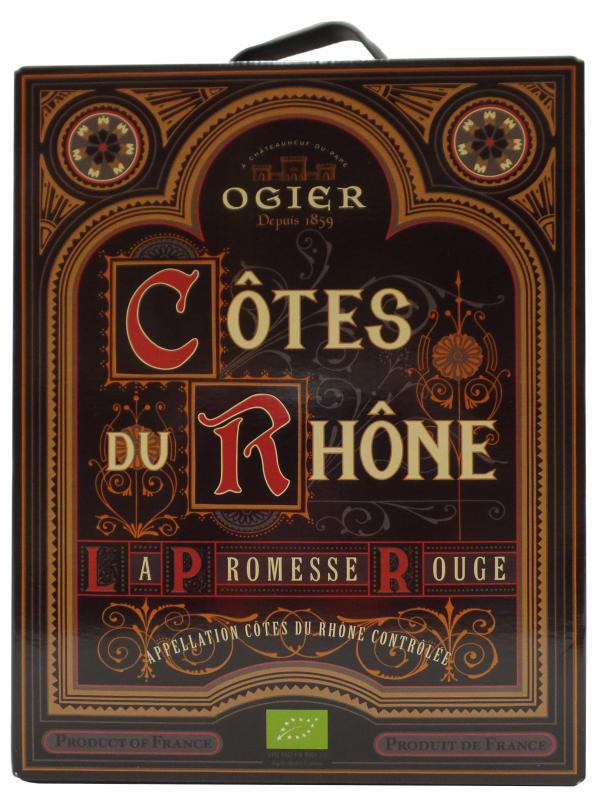 Ogier Côtes du Rhône La Promesse Rouge 2016 hanapakkaus