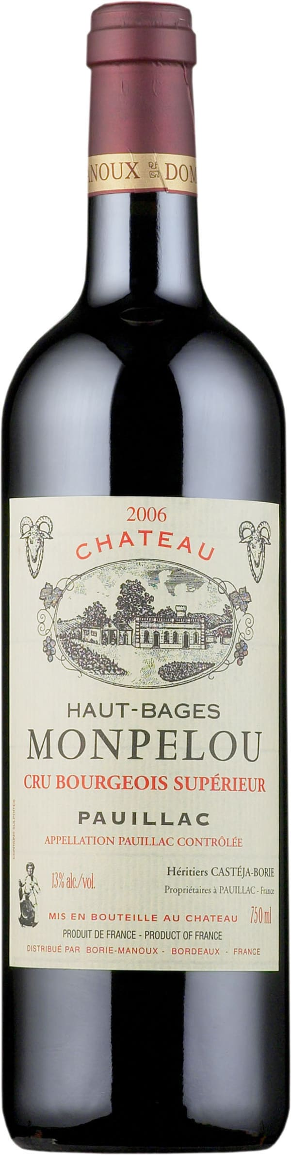 Château Haut-Bages Monpelou 2013