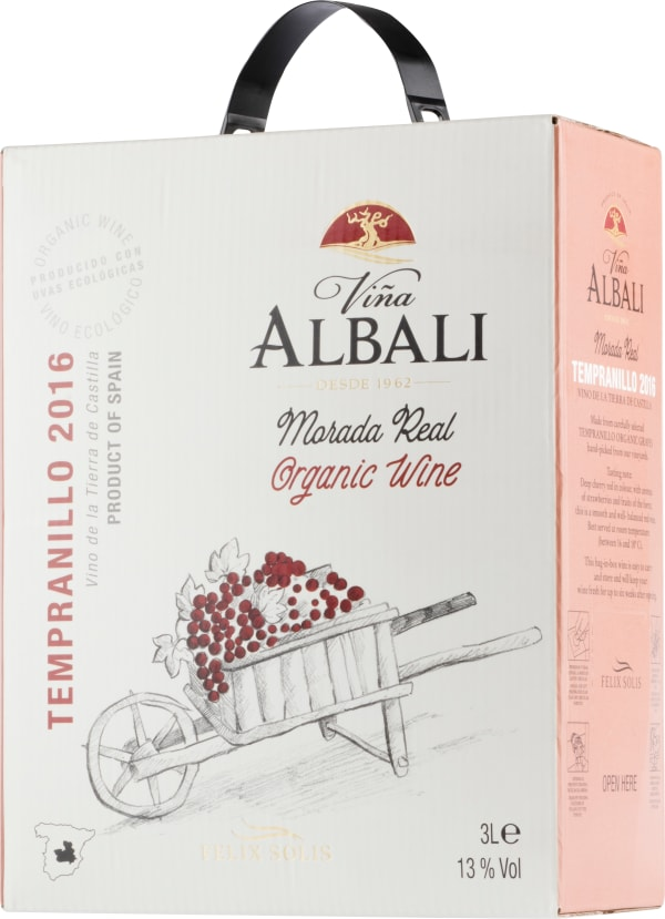 Viña Albali Organic Tempranillo 2017 bag-in-box