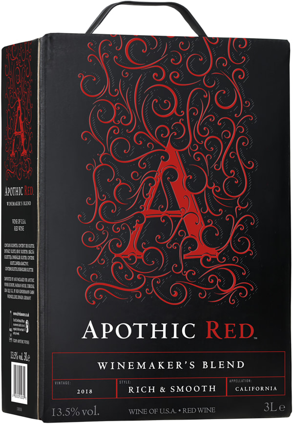 Apothic Red 2018 bag-in-box