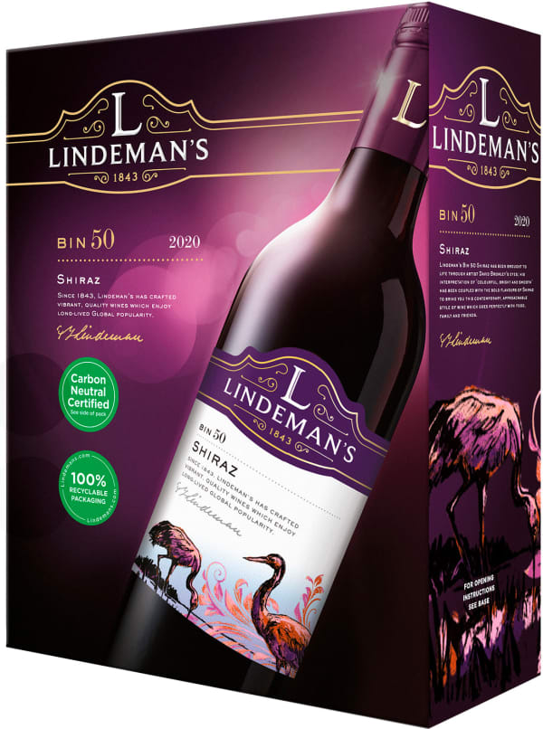 Lindeman's Bin 50 Shiraz 2018 hanapakkaus