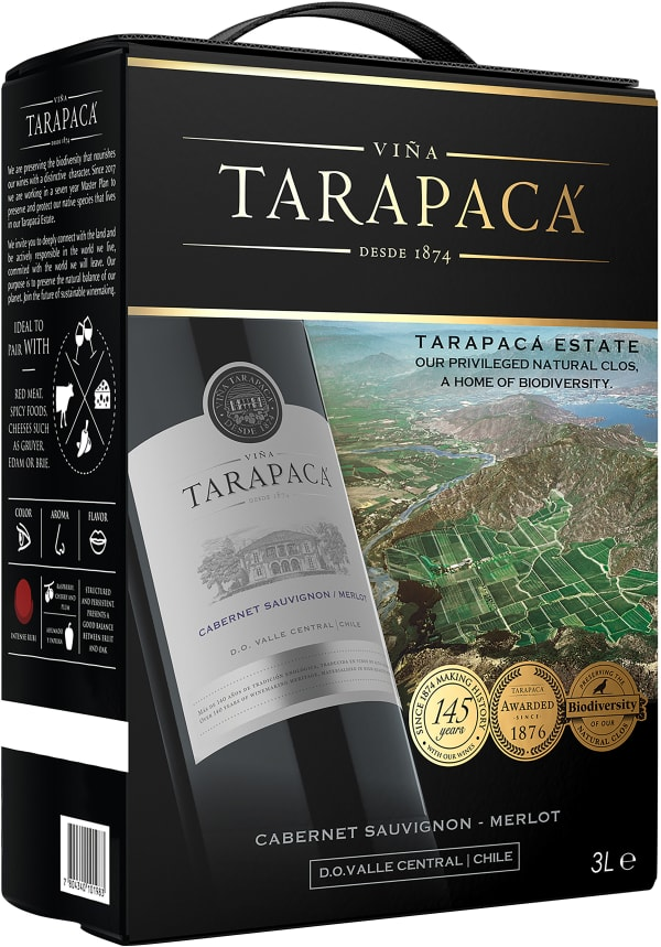 Tarapacá Cabernet Sauvignon Merlot 2018 bag-in-box