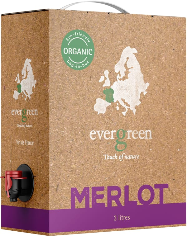 Evergreen Organic Merlot 2018 bag-in-box