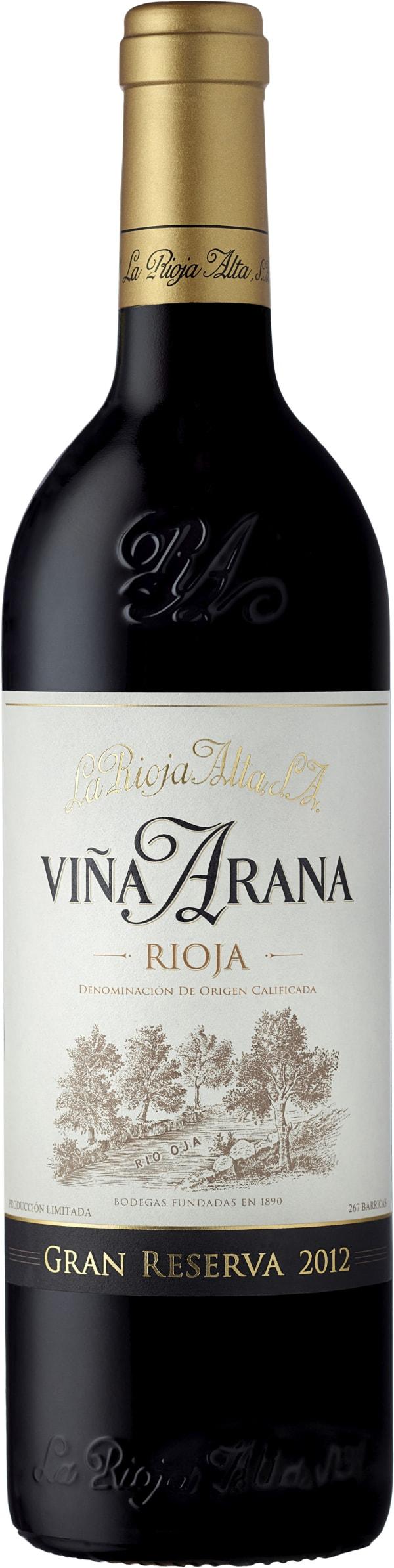 La Rioja Alta Viña Arana Gran Reserva 2012
