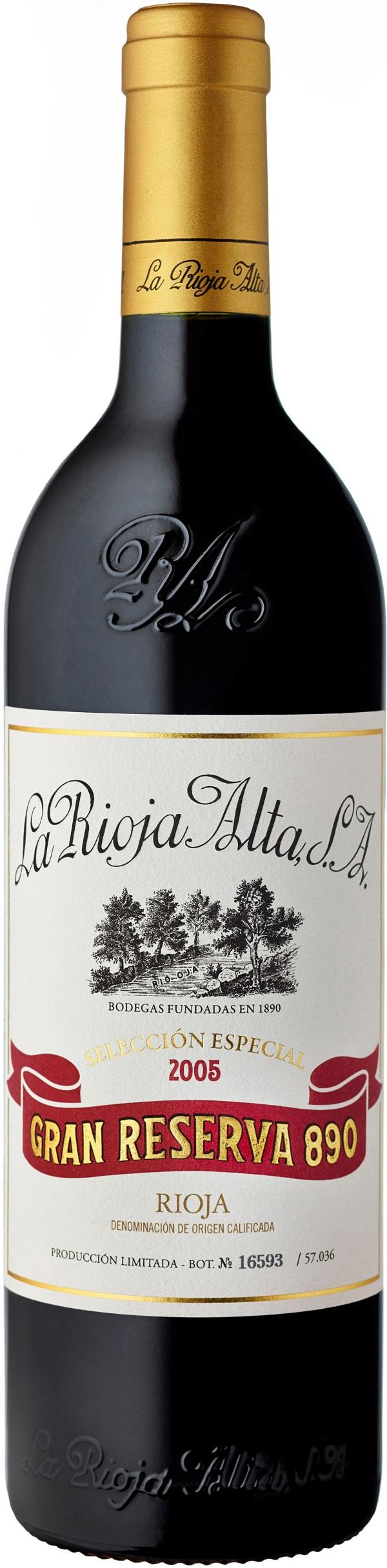 La Rioja Alta Gran Reserva 890 Selección Especial 2005