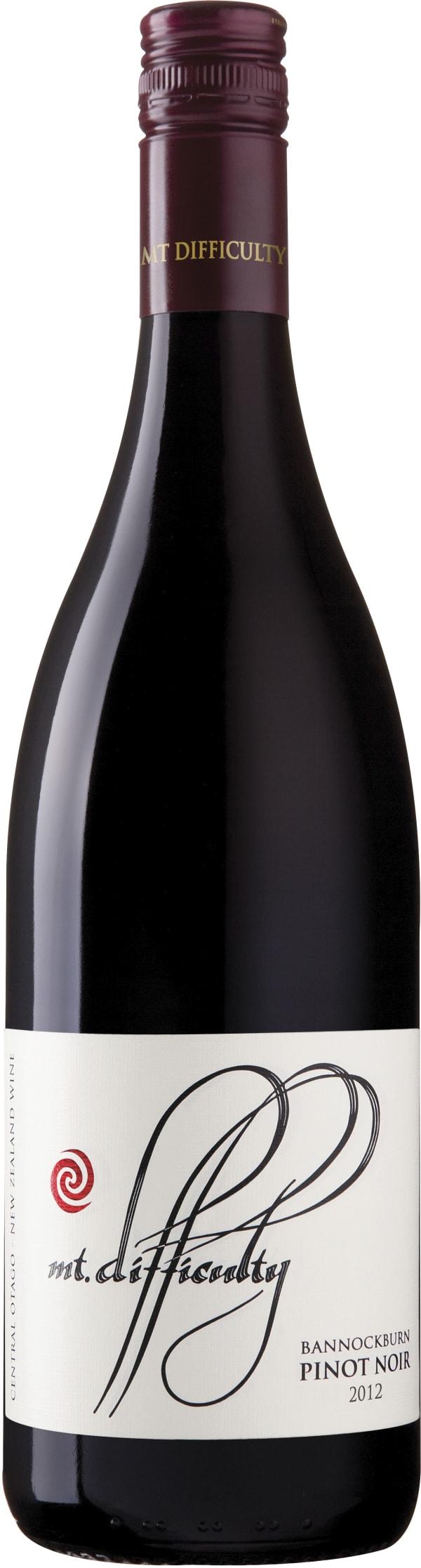 Mt Difficulty Bannockburn Pinot Noir 2012