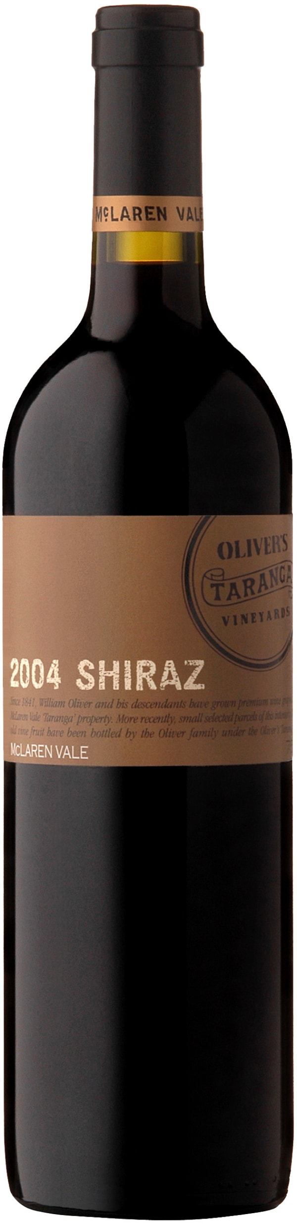 Oliver's Taranga McLaren Vale Shiraz 2002