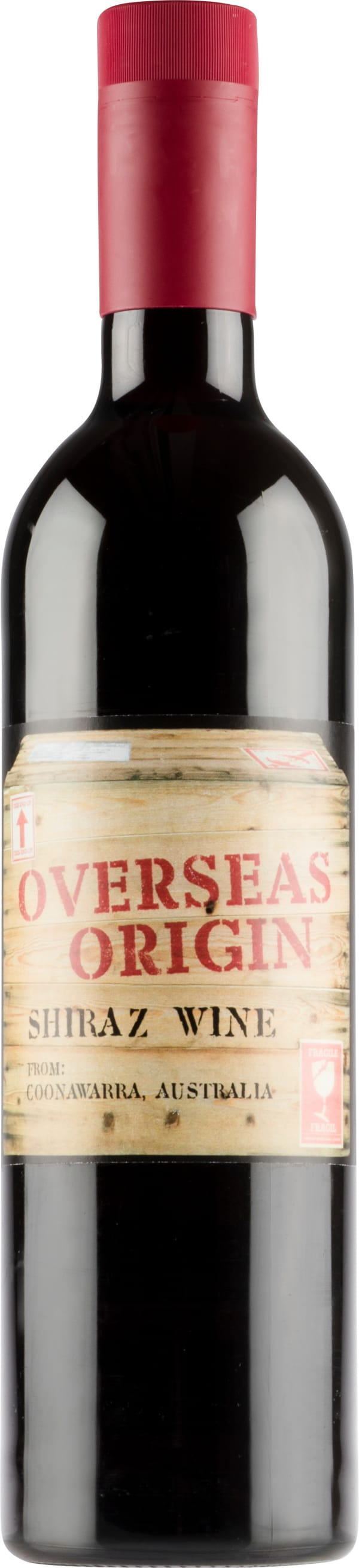 Overseas Origin Shiraz 2018 plastic bottle