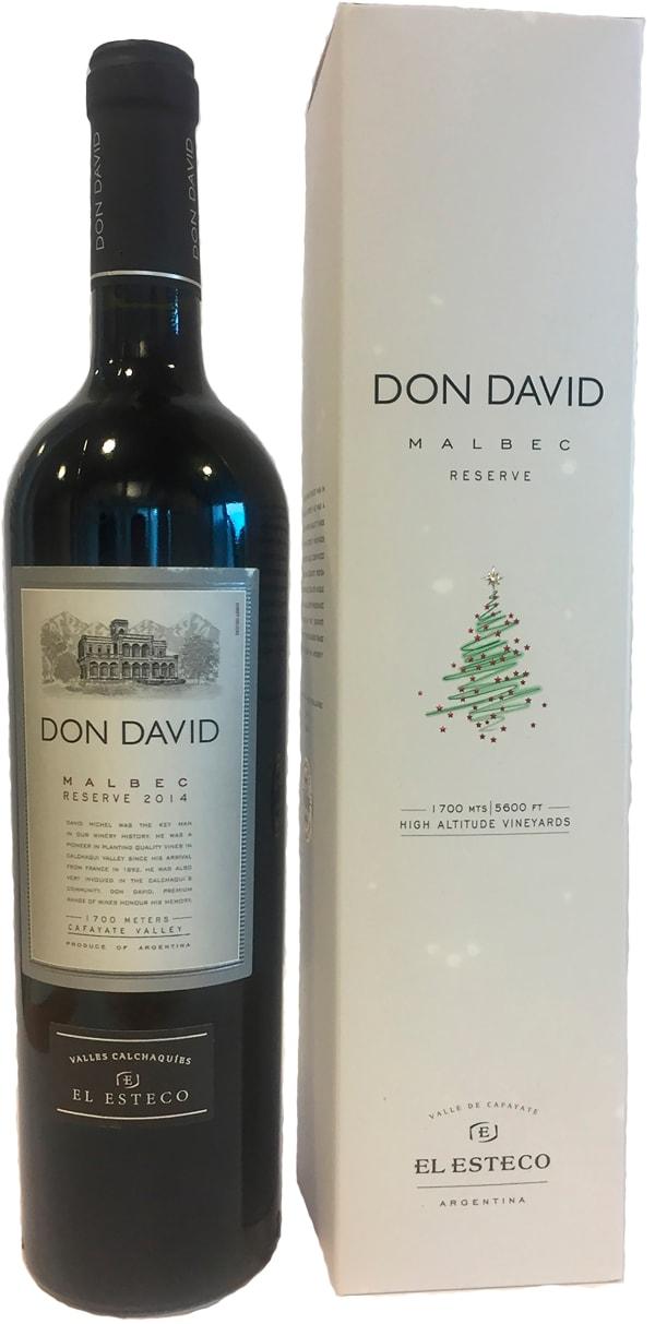 Don David Malbec Reserve 2018 presentförpackning